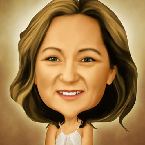 Caricature of Stacey Smith at Automax Recruiting